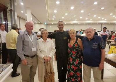 Grampa with holocaust survivors in Israel