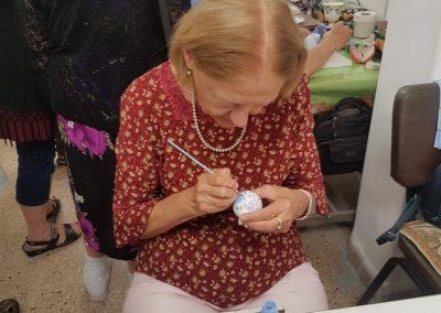 Painting a pomegranate salt shaker