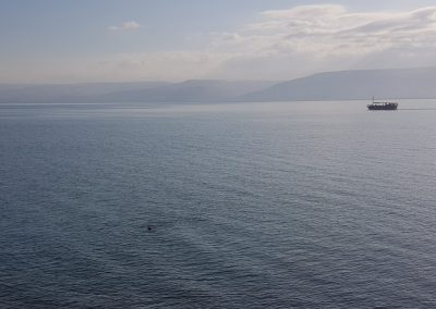 Sea of Galilee where Jesus walked on the water