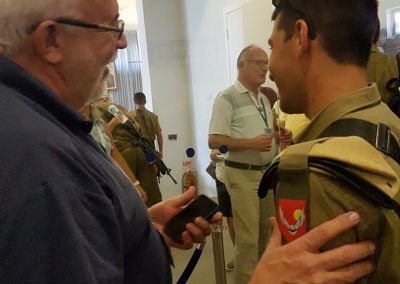 Uncle Bill with Israeli Solder