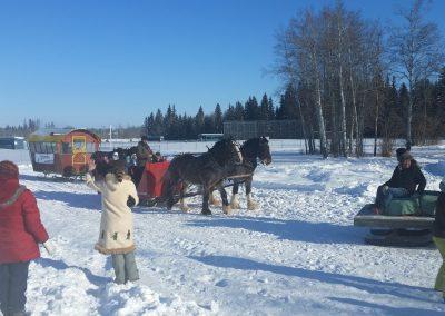 Fort St John Sleigh rides; High on Ice